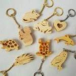 Portes clés en bois
