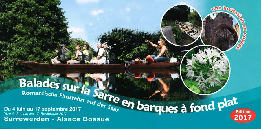 Boat-trips on the river Sarre: opening